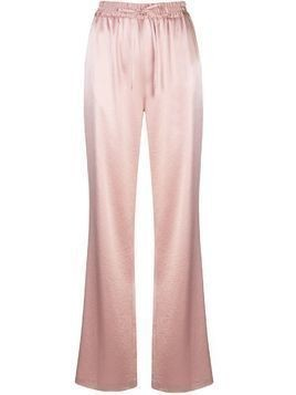 Milly high-rise wide leg trousers - Pink