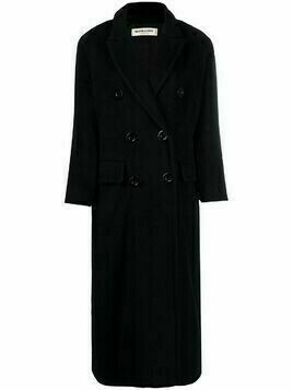 Yves Saint Laurent Pre-Owned double-breasted wool peacoat - Black