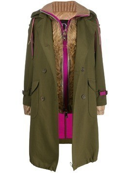 Bazar Deluxe layered trench coat - Green