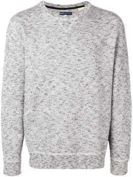 Levi's: Made & Crafted zig-zag knit jumper - Grey