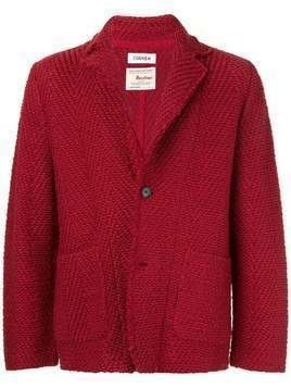 Coohem shadow herringbone tweed jacket - Red