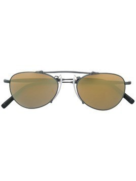 Matsuda mirrored aviator sunglasses - Black