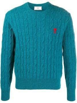 AMI cable knit jumper - Blue