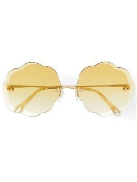 Chloé Eyewear scalloped sunglasses - Gold