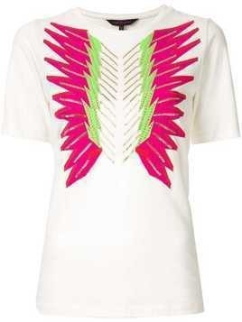 Manish Arora crystal embroidered T-shirt - White