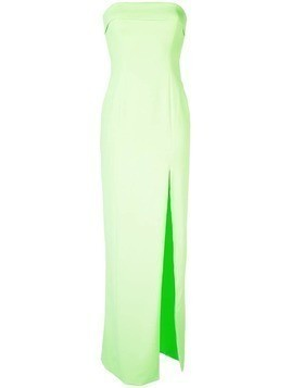 Jay Godfrey strapless side slit gown - Green
