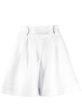 Styland logo lined pleated shorts - White