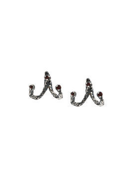 Niza Huang Moments jacket earrings - Grey