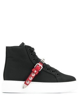 Prada studded strap sneakers - Black