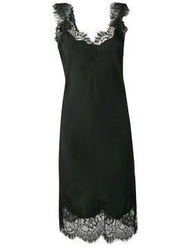 Gold Hawk lace trim sleeveless dress - Black