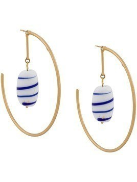 Forte Forte glass-embellished hoop earrings - GOLD