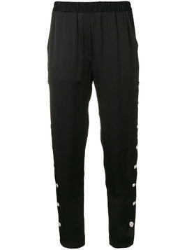 Just Cavalli side button track pants - Black