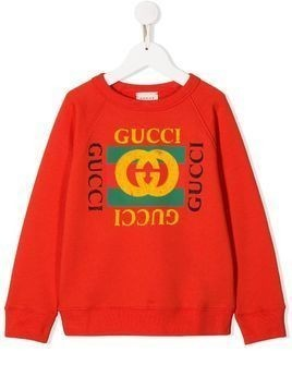 Gucci Kids logo detail sweatshirt - Red