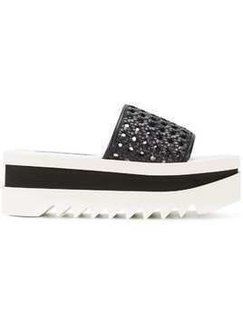 Stella McCartney woven platform slides - Black