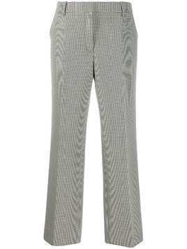 Alexander Wang houndstooth straight-leg trousers - Black