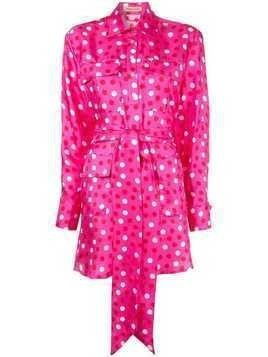 Maggie Marilyn polka dot mini shirt dress - Pink