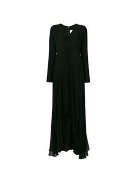 William Vintage flared long cocktail dress - Black
