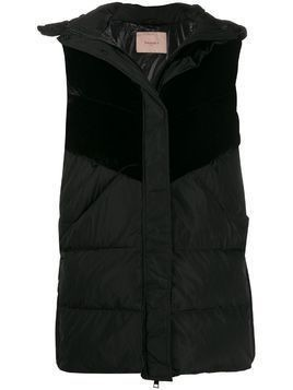 Twin-Set padded panelled gilet - Black