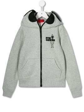 AI Riders on the Storm zip-up hoodie - Grey