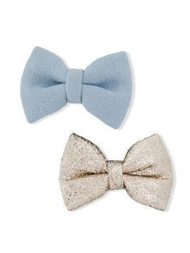 Hucklebones London bow hair clips - Blue