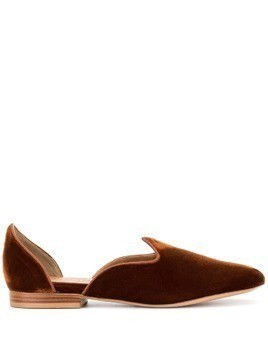 Le Monde Beryl velvet slippers - Brown