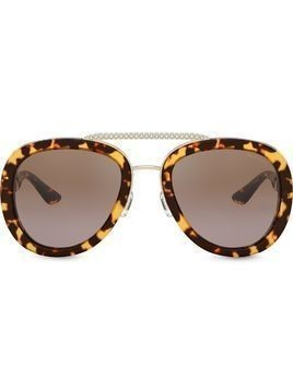 Miu Miu Eyewear tortoiseshell-effect sunglasses - Brown