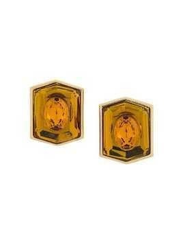 Yves Saint Laurent Pre-Owned 1980's geometric earrings - GOLD