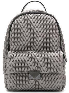 Emporio Armani quilted drop backpack - Grey