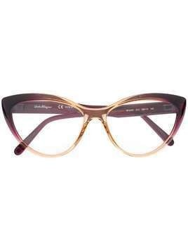 Salvatore Ferragamo cat-eye frame glasses - PURPLE