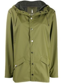 Rains drawstring hooded raincoat - Green