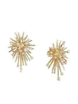 David Yurman 18kt yellow gold Supernova diamond climber earrings - 88Adi