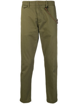 Closed rope trim trousers - Green
