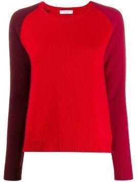 Majestic Filatures colour-block fitted jumper - Red