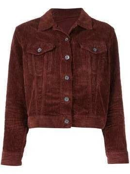 Haikure cropped corduroy jacket - Brown