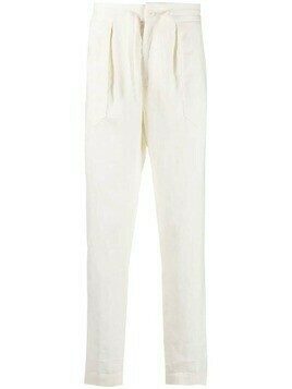 Incotex elasticated carrot-fit trousers - Neutrals