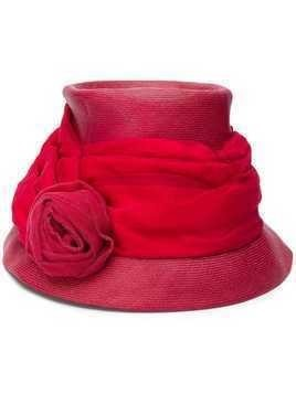 A.N.G.E.L.O. Vintage Cult 1950's draped rose bucket hat - Red