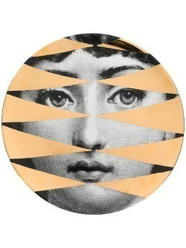 Fornasetti diamond portrait plate - Black