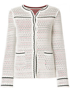 Charlott fitted perforated jacket - Multicolour