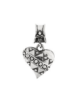 Elf Craft embellished heart pendant - Metallic