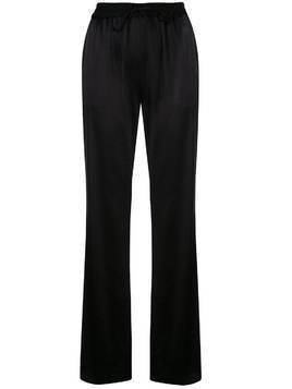 Milly high-rise wide leg trousers - Black