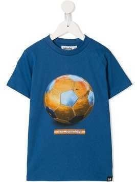 Molo football print T-shirt - Blue