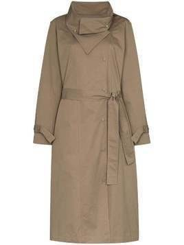 Frankie Shop wing-collar trench coach - Green