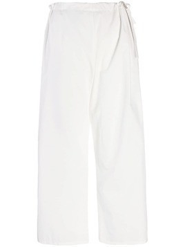 Apuntob drawstring waist trousers - White