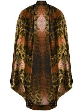 Mona Olivia open front cape - Brown