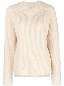 3.1 Phillip Lim Ribbed crew neck pullover - Nude & Neutrals