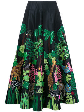 Manish Arora Safari embellished full skirt - Black