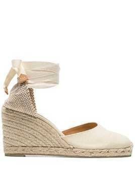 Castañer Carina 80 canvas wedge heels - Neutrals