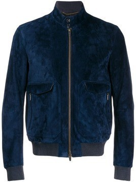 Ajmone zipped bomber jacket - Blue