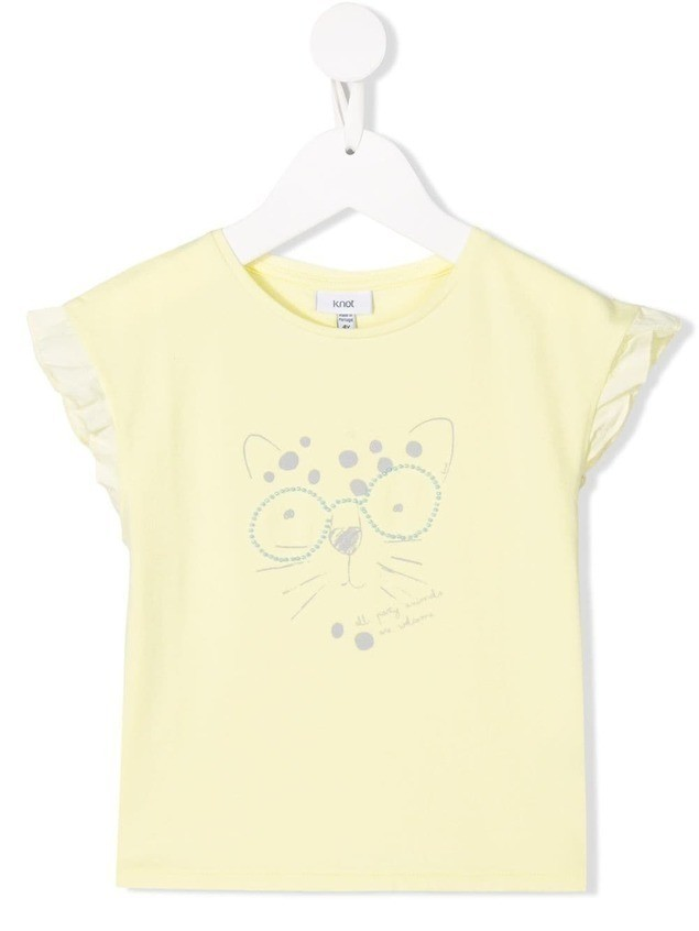 Knot Party leopard t-shirt - Yellow