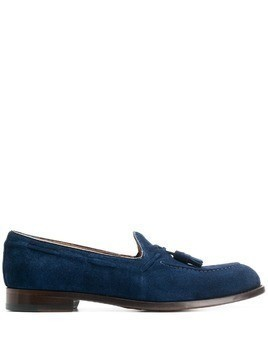 Doucal's tassel embellished loafers - Blue
